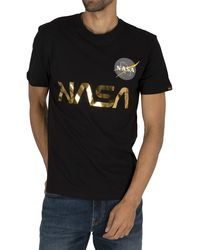 Alpha Industries Nasa Reflective T-shirt - Black