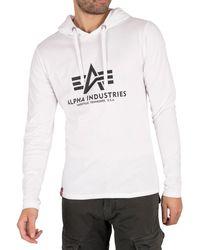 Alpha Industries Longsleeved Hooded T-shirt - White