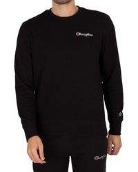 Champion Comfort Chest Logo Sweatshirt - Black