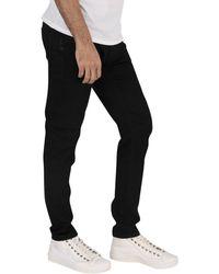 Jack /& Jones Homme Liam Original 816 Skinny Jeans Noir