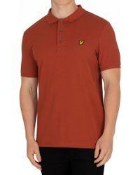 Lyle & Scott - Brown Spice Logo Poloshirt - Lyst