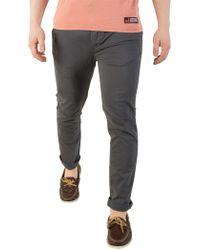 Superdry - Graphite Blue International Chino Slim Straight Fit Lite Pant - Lyst