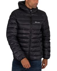 Champion Hooded Puffer Jacket - Black