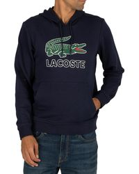 Lacoste Printed Logo Sweatshirt - Blue
