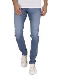 Jack /& Jones Jjiroy Jjdave Sa Beige Jeans Homme