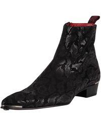 Jeffery West Zip Chelsea Leather Boots - Black
