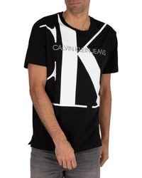 Calvin Klein Upscale Monogram Logo T-shirt - Black