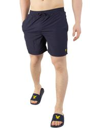 Lyle & Scott - Navy Plain Swim Shorts - Lyst