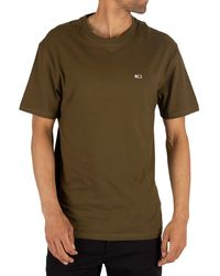 Tommy Hilfiger Contrast Neck Washed T-shirt - Green