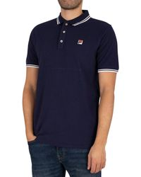 Fila - Vinyl Tipped Collar Polo Shirt - Lyst