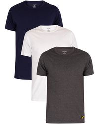 Lyle & Scott - 3 Pack Maxwell Lounge Crew T-shirts - Lyst