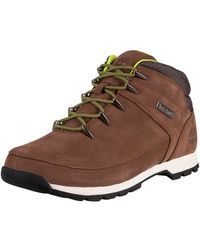 Timberland Euro Sprint Mid Hiker Leather Boots - Brown