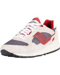 ae54853e16c8 Saucony - Off White grey red Shadow 5000 Vintage Trainers - Lyst