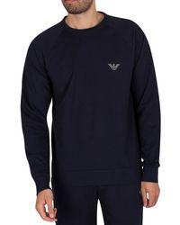 Emporio Armani Lounge Logo Sweatshirt - Blue