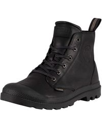 Palladium Pampa Leather Boots - Black
