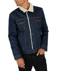 Levi's Sherpa Trucker Jacket - Blue