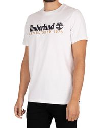 Timberland Linear T-shirt - White