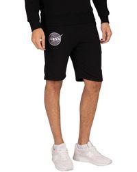Alpha Industries Nasa Basic Sweat Shorts - Black