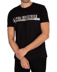 Alpha Industries Foil Print T-shirt - Black