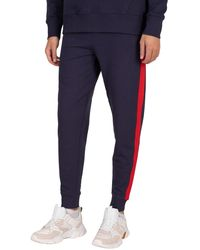 Tommy Hilfiger Mix Media Basket Joggers - Blue