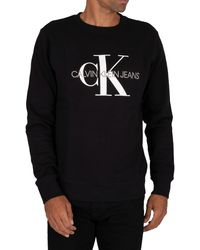 Calvin Klein Iconic Monogram Sweatshirt - Black