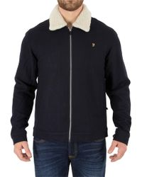 Farah - True Navy Otley Jacket - Lyst