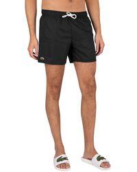 Lacoste Logo Swim Shorts - Black