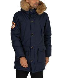 Superdry Everest Parka Jacket - Blue