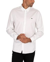 Lacoste Buttoned Down Shirt - White