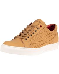 Jeffery West Leather Sneakers - Brown