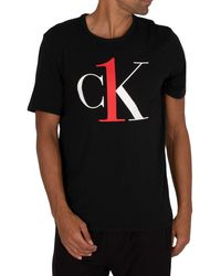 Calvin Klein Lounge Ck One Graphic T-shirt - Black