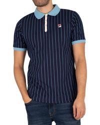 Fila Bb1 Striped Polo Shirt - Blue