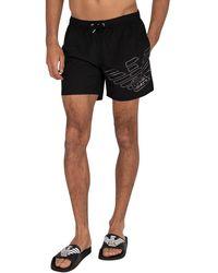 Emporio Armani Mid Boxer Swim Shorts - Black
