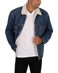 Levi's Vintage Fit Sherpa Trucker Jacket - Blue