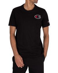 Champion Chest Logo T-shirt - Black