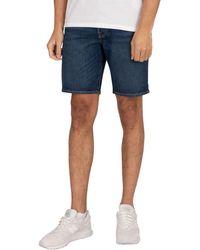 Levi's 501 Hemmed Denim Shorts - Blue