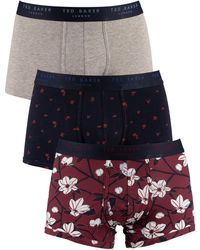 Ted Baker 3 Pack Fitted Trunks - Multicolor