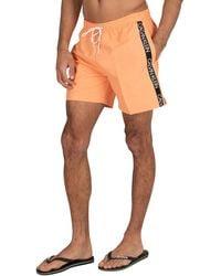 Calvin Klein Medium Drawstring Swim Shorts - Orange