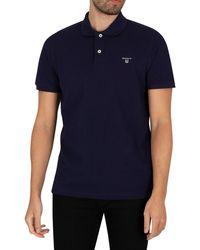 GANT The Summer Pique Rugger Poloshirt - Blue