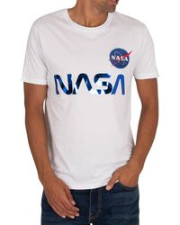Alpha Industries Nasa Reflective T-shirt - Blue