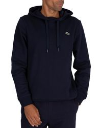 Lacoste Sport Pullover Hoodie - Blue