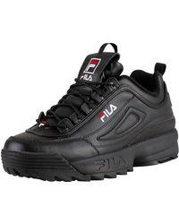 Fila Disruptor Ii Premium Black / White / Red Sneakers