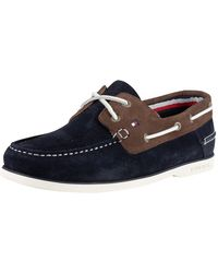 a4ea26ae8a48 Tommy Hilfiger - Midnight Coffee Bean Classic Suede Boat Shoes - Lyst