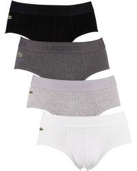 Lacoste 4 Pack Essentials Briefs - Grey