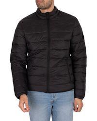 Jack & Jones Magic Collar Puffer Jacket - Black