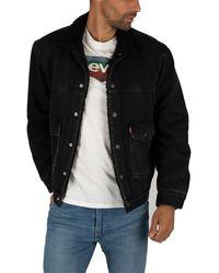 Levi's Patch Sherpa Trucker - Black