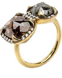 Sylva & Cie - Rough Cut Double Diamond Ring - Lyst