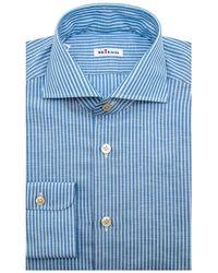 Kiton - Light Blue Stripe Dress Shirt - Lyst