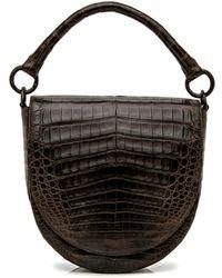 Nancy Gonzalez - Chocolate Crocodile Saddle Bag - Lyst
