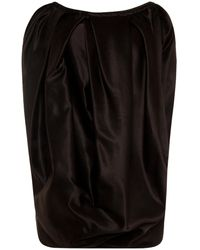 Marni Dark Brown Millet Oversized Asymmetric Top